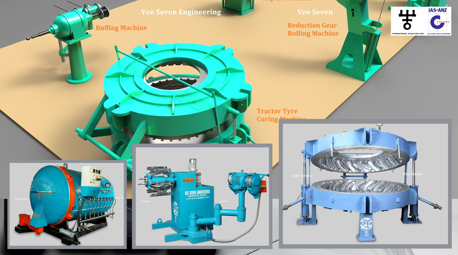 Tire retreading Machines